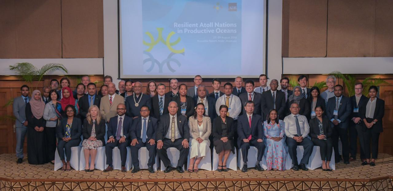 The conference on Resilient Atoll Nations in Productive Oceans, organized by the ADB, brings together high-level government officials from the four atoll nations—Kiribati, Maldives, the Marshall Islands, and Tuvalu—along with experts and development partners